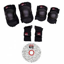 Triple 8 Youth Little Tricky Protective Pack with Instructional DVD (Black, Junior)