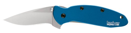 Kershaw Ken Onion Blue Scallion Folding Pocket Knife with Speed Safe