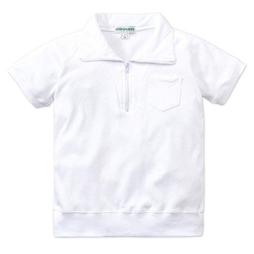 ASHBERRY (アッシュベリー) えり付き半袖体操服(白)/男女兼用/ 150cmオフホワイト