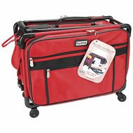 Tutto Machine On Wheels Case 20x13x9-red by Tutorial Stop