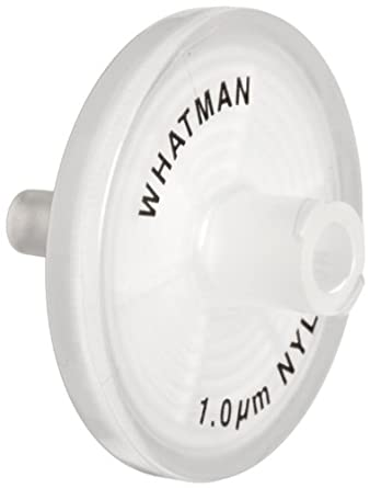 Whatman 6750-2510 Nylon Puradisc 25 Syringe Filter, 1.0 Micron (Pack of 50)