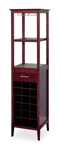 Winsome Wood Wine Tower, Espresso Finish front-73116