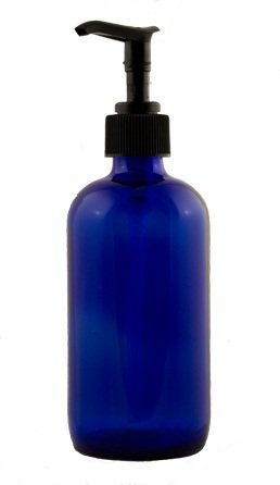 16 oz cobalt blue plastic lotion soap dispenser bottle - Cobalt blue bathroom accessories ...