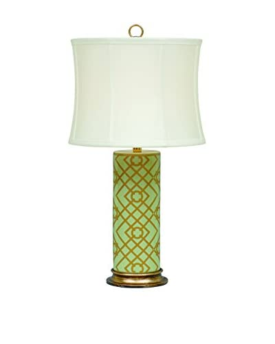 City Scape Viceroy Mint Cylinder Lamp, Mint