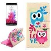 Lovely Cartoon Patterns Cross Texture Leather Case with Holder Card Slots Wallet for LG G4
