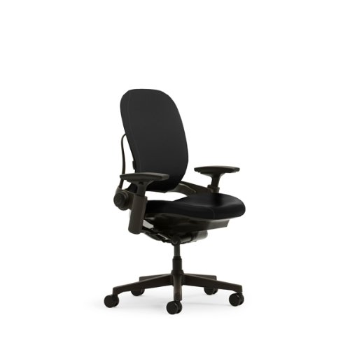 Steelcase Leap Plus Leather Chair, Black