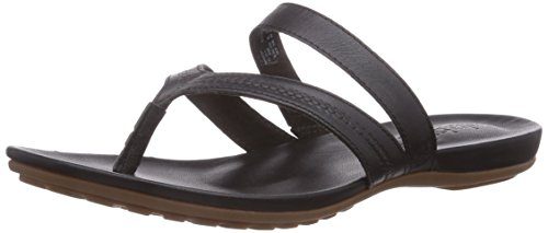 Timberland Women's EK Harborview Thong Gladiator Sandal, Black, 9 M US (Customized Timberland Boots compare prices)