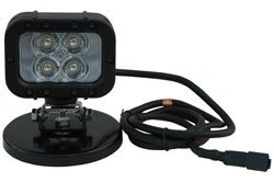 Led Light W/ Magnetic Base - 12 Watts - 4 Leds - 90'L X 70'W Beam - Works On 9-42 Volts Dc(-White-Sp