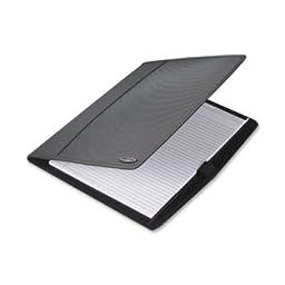 Wilson Jones Padfolio/Sorter, Polypropylene, Clear Tab Dividers, Black (55764)
