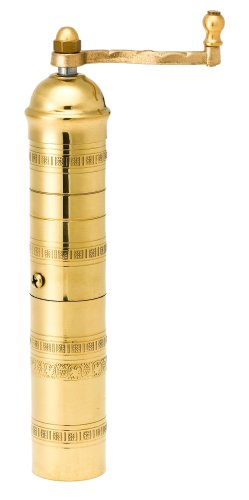 Pepper Mill Imports Traditional Coffee/Spice Mill, Brass, 9″