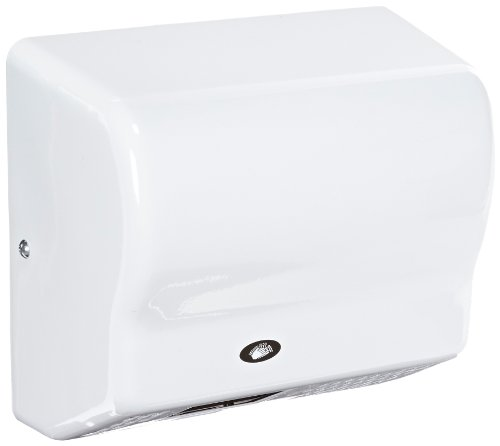 American Dryer Global Gx1-M Steel Cover Automatic Hand Dryer, 110-120V, 1,500W Power, 50/60Hz, White Epoxy Finish