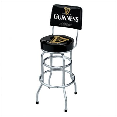 Arthur guinness extra stout irish ale beer harp swivel bar stool pub