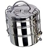 ROYAL SHAPPIRE Stainless Steel Tiffin Box/Lunch Box In 3 Container/fully Polished