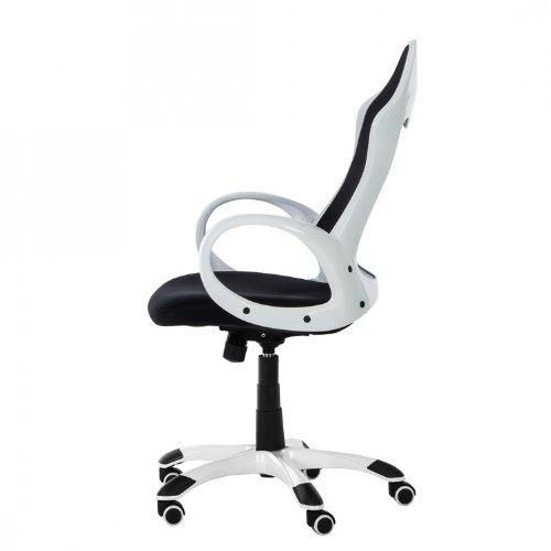 Drehstuhl weiß schwarz  Bürostuhl Cody Netzstoff Schwarz Weiß - Stufenlose ...