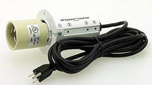 Hydrofarm All System Cord Set with 15-Feet Power Cord, 120-volt