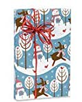 Reindeer SnowMan Fun Gift Wrap - Christmas Wrapping Paper