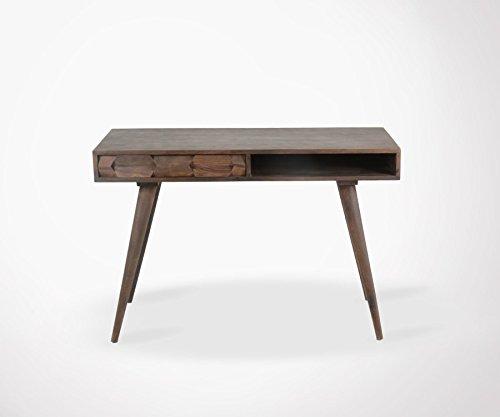 Bureau style éthnique 1 tiroir bois de palissandre DORN - 115cm