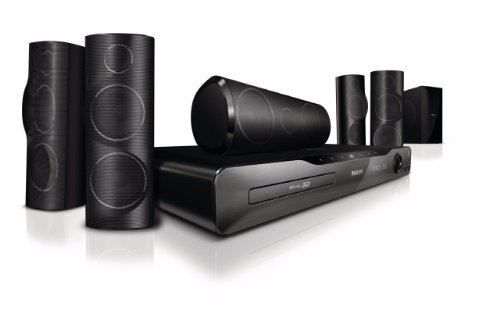 Philips HTS5562/12 5.1 3D Blu Ray Home Cinema System with NetTV, BBC iPlayer, iPod dock and 3D Angled Speakers