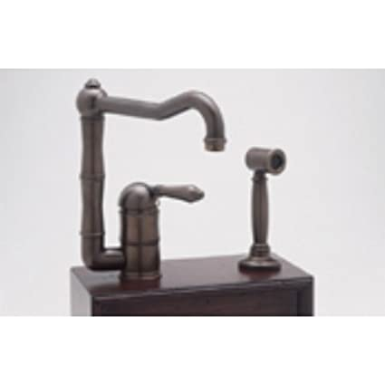 Rohl A3608LPSTN, Rohl Kitchen Faucets, Single Lever Faucet - Satin Nickel