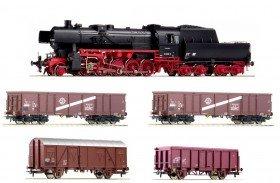 Roco 51265 - Digital-Startset Dampflokomotive BR 52 der DR mit einem Güterzug