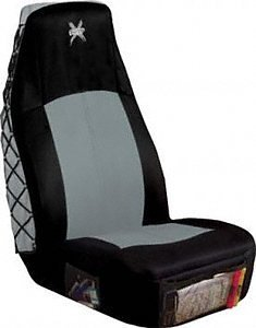 Canvas Fabric Saddleman Front Bench//Backrest Custom Made Seat Cover Charcoal
