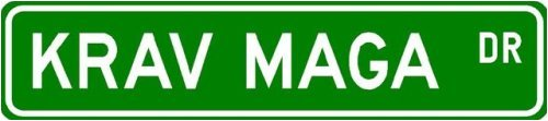 Krav Maga Street Sign ~ Martial Arts Gift ~ Aluminum
