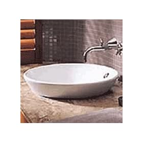 Leda Vasque Inset Sink in White