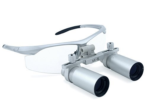 Dental Power 6.0X 420mm Working Distance Dental Surgical Medical Loupes with Ultra-light and High Brightness Optical Glasses