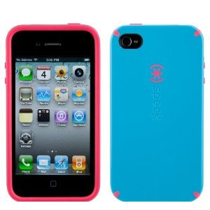Speck Products Candyshell Case Series for Apple Iphone 4 (At&t Only) Light Blue / Pink