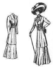 1909 Ladies' Coat Suit Pattern