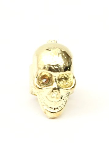 Skull Ear Cuff Metal Wrap Gold Tone Skeleton Earring Gothic Punk Fashion Jewelry
