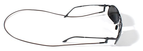 Croakies Premium Leather Cord Eyewear Retainer,Brown