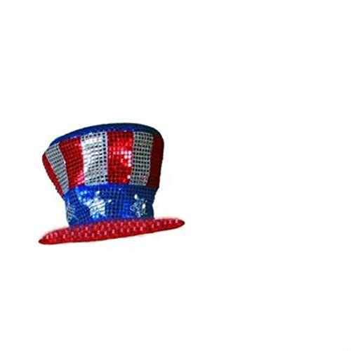 SEQUIN SPARKLE Uncle Sam Top Hat USA Patriotic 4th of July - Adults/Kids