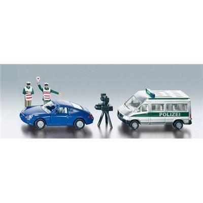 「SIKU SUPER」(ジク・スーパー)シリーズ メルセデス・ベンツ 交通違反取締レーダーバン ポルシェ 911×1、レーダーカメラ×1、警察官フィギュア×2付 2312