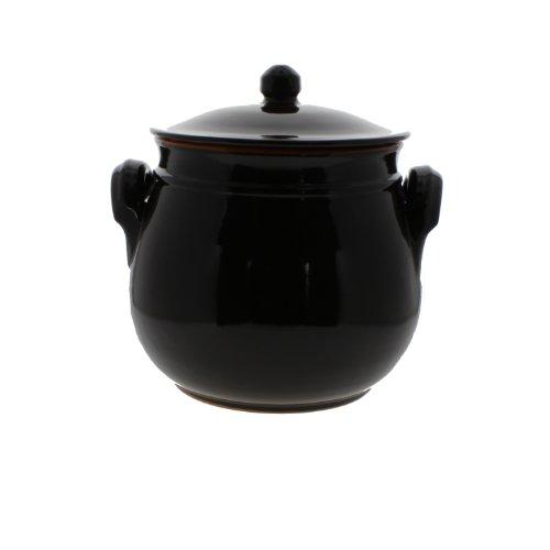 Coli Bakeware Cl15Br--C41 Italian Ceramic Round Dutch Oven, 3.75-Quart, Brown