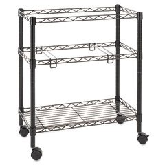 Buy Single tier rolling file cart, 26w x 14d x 30h, black