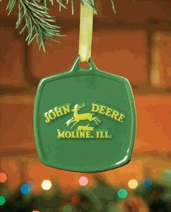 John Deere Christmas Ornament – Green With 1937 Vintage Yellow Logo #615861