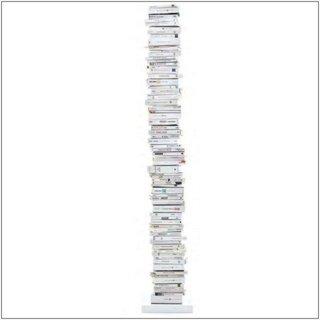 Se pueden usar por separado PTOLOMEO libros columna 215 cm blanco/pie de acero inoxidable