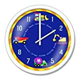 Under Construction Children's Clock by Olive Kids