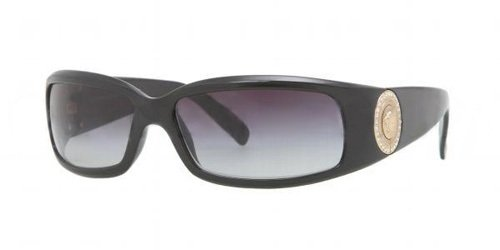 80eb7b6df8f1 Versace VE4044B Shiny Black Gold   Gray (870 8G) Sunglasses