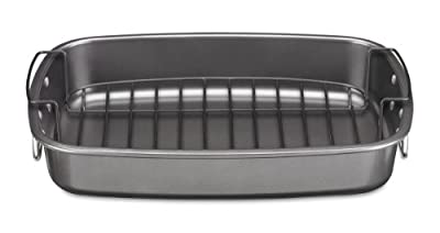Cuisinart CSR-1712R Ovenware Classic Collection 17 by 12-Inch Roaster with Removable Rack