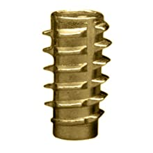 "E-Z Lok Threaded Insert, Zinc, Hex-Flush, 1/4""-20 Internal Threads, 0.789"" Length (Pack of 50)"