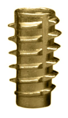 E-Z Lok Threaded Insert, Zinc, Hex-Flush, 1/4