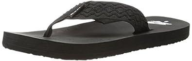 Reef Men's Smoothy Sandal, Black, 4 M US