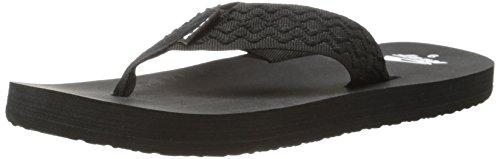 Reef Men'S Smoothy Sandal, Black, 10 M Us front-1038815