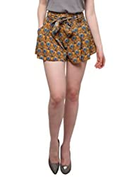 XnY Tie Front Printed Shorts