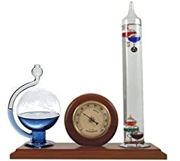 Ambient Weather WS-YG501 Galileo Thermometer, Hygrometer and Glass Fluid Barometer