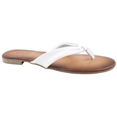 Ladies Jones Bootmaker Karate White Flip Flops Size 9