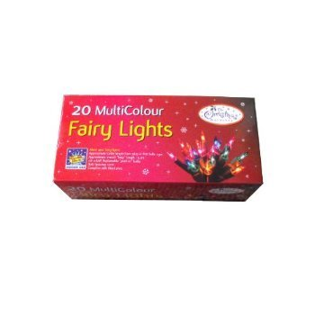 20 Multi colour Fairy Lights for Christmas Tree or Indoor decoration