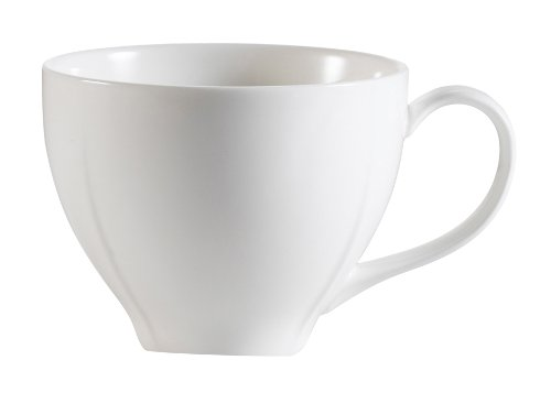 CAC China MDN-1 4-3/4-Inch by 1-1/4-Inch Modern New Bone White Porcelain Cup, 7-1/2-Ounce, Box of 36